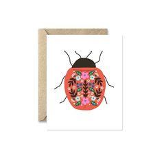 Folk Ladybug - Greeting Card