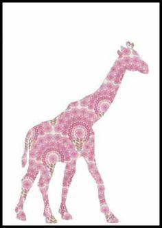 vintage wallpaper wallsicker giraffe - inke designed