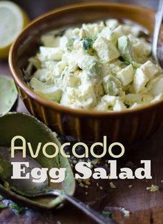 Avocado Egg Salad Recipe | @bestrecipebox Avocado Dessert, Maionese Fit, Sandwich Aguacate, Avocado Recipes, Salad Recipes, Lunch Recipes, Dinner Recipes, Wrap Sandwiches, Egg Salad Sandwiches