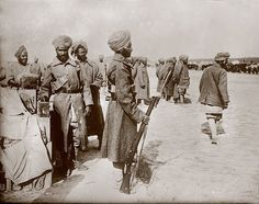 World War I, India's soldiers in France, circa 1914-1918.