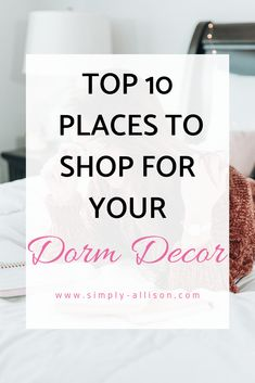Here are my top 10 places to shop for dorm room decor. From bedding to dorm decor here is a list of places where you can buy dorm room decor that will save you tons of money and time. Freshman Quotes, College Freshman Tips, College Life Hacks, College Food, College Dorm Organization, College Dorm Essentials, College Walls, College Dorm Rooms, Dorm Cleaning