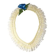 Micronesian Ginger Lei (White) -- A divine, graceful flower, the bud of the ginger is carefully braided together (Micronesian-style) to produce a true work of art. One of the most intricate and striking leis we offer, this is a favorite of both men and women because of its exquisite woven look and fragrant scent.