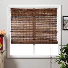 Accent your home decor with a stunning bamboo Roman shade. Bamboo Roman shades are carefully woven to filter light. Each window treatment is made with real bamboo and other environmentally-friendly materials, also known as woven wood.