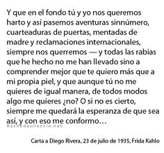 Carta a Diego Rivera