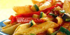 Veselé penne. Recepty — Podravka | S Podravkou chutná lépe Penne, Pasta Salad, Ethnic Recipes, Food, Crab Pasta Salad, Cold Noodle Salads, Meals, Noodle Salads, Yemek