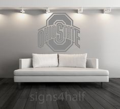 Ohio State Buckeyes Football Removable Wall Art by Signs4Half