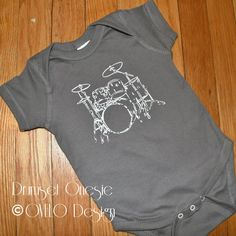 Rock Star Drumset Pictured in Charcoal. $15.99, via Etsy.