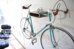 Stylish Wooden Bike Racks By Daniel Ballou ⋆ Hanging Bike Rack, Indoor Bike Rack, Wall Mount Bike Rack, Bike Hanger, Bike Mount, Hanger Rack, Hanging Storage, Wall Hanger, Bicycle Storage