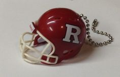 Rutgers Scarlet Knights Handmade Plastic Helmet Ceiling Light/Fan Pull and Chain