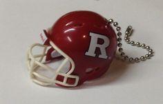 Rutgers Scarlet Knights Handmade Plastic Helmet Ceiling Light/Fan Pull and Chain
