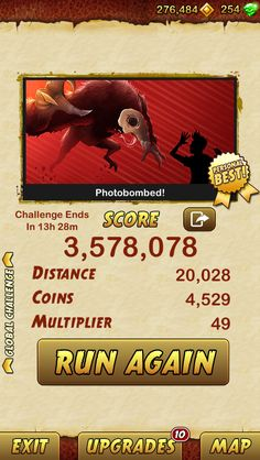I got 3578078 points while escaping... http://bitly.com/TempleRun2iOS