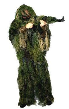 Full Ghillie Suit - Keith has actually made one for himself and a costume one for Jude Camping Survival, Survival Prepping, Survival Gear, Survival Skills, Camping Hacks, Stage West, Military Apparel, Sleeper Agent, Ghillie Suit
