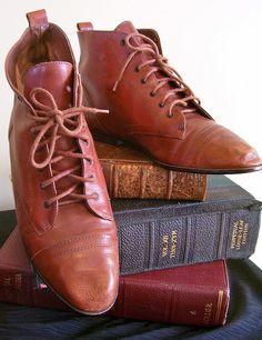 Vintage 1970s Granny Boots  by sandmarg.etsy, via Flickr