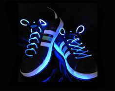 LED Light Shoelaces Glow Shoe Strings Blue Glow Shoes, Buy Smartphone, Smart Bracelet, Friend Wedding, Computer Accessories, Shades Of Blue, My Best Friend, Adidas Sneakers, Pairs
