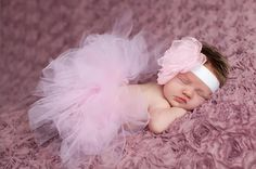 Gorgeous Newborn Tutu with Flower by LoveYourBabyBoutique on Etsy, $29.95