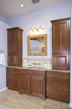 Tommy Bahama-inspired Spa Bath traditional bathroom  waypoint cabinets