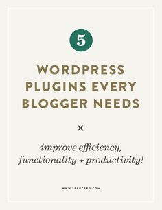 If you use the WordPress platform for your blog or business, you are most likely familiar with the power of plugins for your site. Plugins provide an added functionality to your site, typically without needing a developer to get involved. Essentially, they make updating + expanding your site a breeze. I feel like there really …