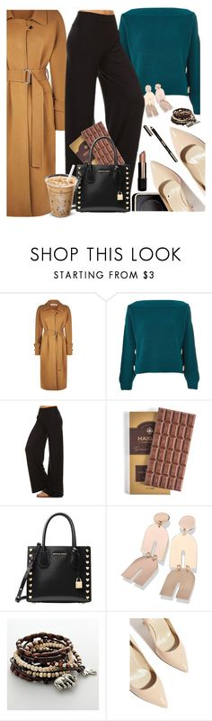 """Coffee Time"" by lustydame ❤ liked on Polyvore featuring Victoria Beckham, Topshop, Jantie, MICHAEL Michael Kors, Mudd and Karen Millen"