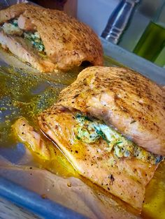 [homemade] Stuffed Salmon #food #foodporn #recipe #cooking #recipes #foodie #healthy #cook #health #yummy #delicious