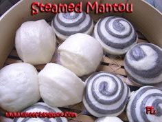Chinese steamed mantou/bun ( 饅頭 ) is a kind of steamed bread bun originating from China. They are somewhat similar in nutritional values an...