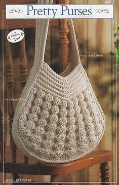 You'll find free crochet bag patterns, crochet purse patterns and even a free tote bag pattern or two. You'll never want to buy a purse or bag ever again. Crochet Purse Patterns, Crochet Tote, Crochet Handbags, Crochet Purses, Love Crochet, Vintage Crochet, Crochet Crafts, Knit Crochet, Crochet Woman
