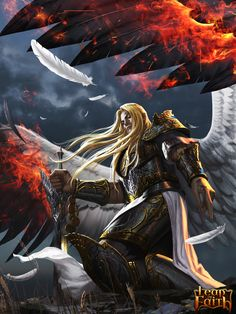 Maelstrom from my book.  (Fallen Angel Lucifer by ~robekka on deviantART)