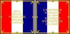 Bandiera del 45 rgt. fanteria della linea