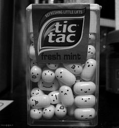 tic tac make faces with a food marker
