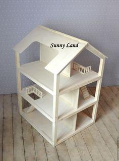 Купить Кукольный домик №2 - бежевый, кукольный дом, кукольный домик, кукольный дом домик