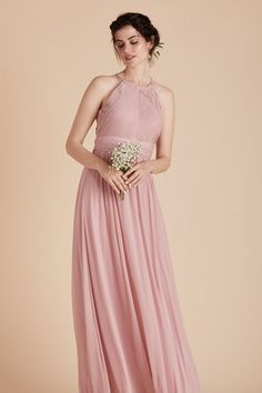 f950d3f3447 Birdy Grey Bridesmaid Dress Under  100 - Monica Dress in Dusty Rose -  Classic Gown With
