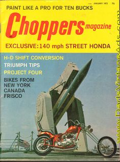 1973 Choppers Magazine Cover – U.S. Navy Destroyer TARTAR surface-to-air missile