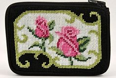 Coin Purse - Pink Rose On Black - Needlepoint Kit Alice Peterson http://www.amazon.com/dp/B004PE1D4Y/ref=cm_sw_r_pi_dp_i.i7wb0B0J7TK