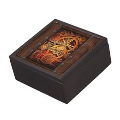 SteamPunk Gears and Rivets Premium Jewelry Boxes