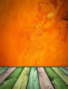 orange stained floor boards
