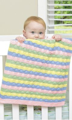 Knit Baby Blanket. Perfect size for carseats!