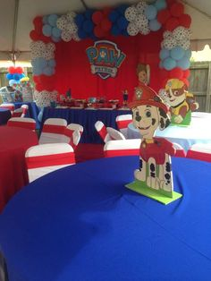 Paw Patrol theme 1st bday party | CatchMyParty.com