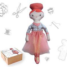 Puppen nähen selbst genäht  (Ballerina Red) Lilafaitdesbulles