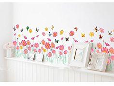 ufengke® 108-pezzi piccoli fiori e farfalle adesivi murali, camera ... - Stickers Murali Camera Da Letto