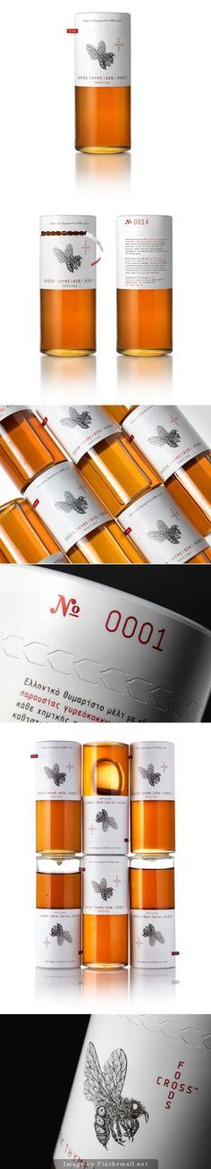 Foodscross Premium #Honey, Creative Agency: mousegraphics - http://www.packagingoftheworld.com/2014/10/foodscross-premium-honey.html