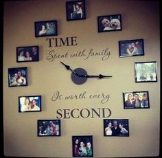 Incredible A Family Clock. Give your child a book to read.spiritsofaust… The post A Family Clock. Give your child a book to read. Family Clock, Diy Casa, Do It Yourself Home, Home And Deco, Handmade Home, Handmade Pottery, My Dream Home, Decorating Tips, Interior Decorating