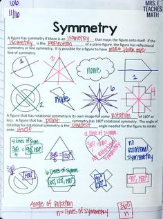 symmetry notes for interactive notebooks in high school geometry *free download*