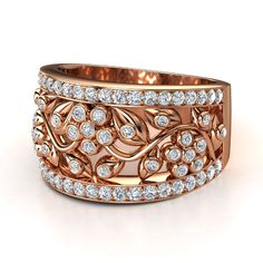 14K Rose Gold Daisy Chain Ring <3
