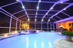 screen enclosure lighting pool cage