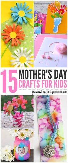 Pretty Mother's Day Crafts for Kids to Make #craftsforkids