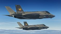 Mock up of F35Bs in 809 Naval Air Squadron colours