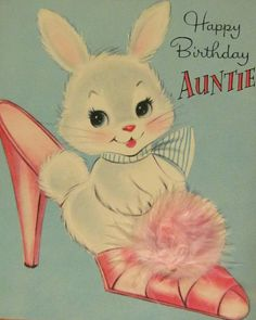 Shabby Chic Easter Bunny Decoration For By JeanKnee Vintage Birthday CardsBirthday