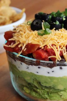 This lightened-up take on the seven-layer dip still curbs cravings but with much less fat and far more fiber. It's healthy substitute to the big game-day favorite.