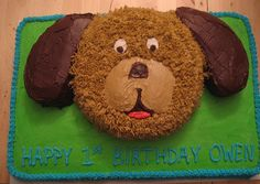 """link takes you to """"animal cake pans to buy"""" wilton dog cake - Google Search - but can use this picture for reference"""
