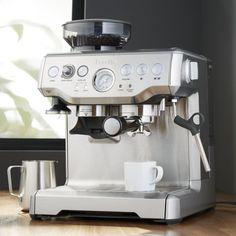 Breville ® Barista Espresso Machine - Crate and Barrel Home Espresso Machine, Espresso Machine Reviews, Breville Espresso Machine, Café Espresso, Espresso Maker, Saeco Espresso, Cappuccino Maker, Cappuccino Machine, Cappuccino Coffee