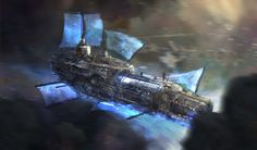 Scene from The Akallian Tales, book one, Souls of Astraeus. The main character's subflux. A ship that doesn't travel on/in water, but energy.